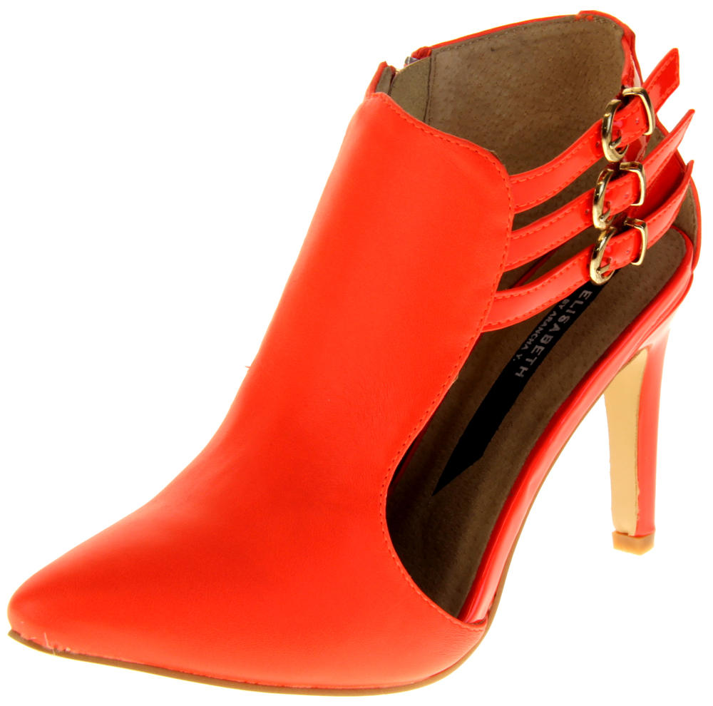 Womens Ladies Elisabeth Faux Leather Stilletto High Heels