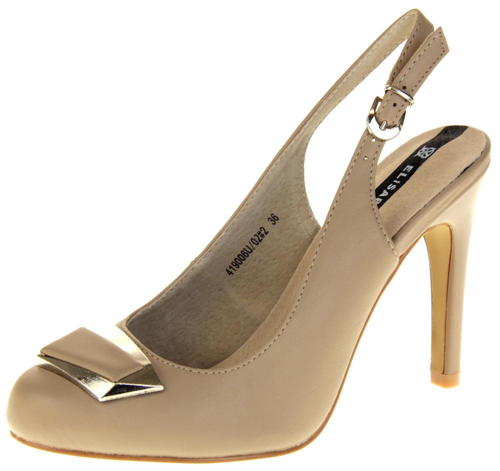 Womens Ladies Elisabeth Faux Leather High Heels