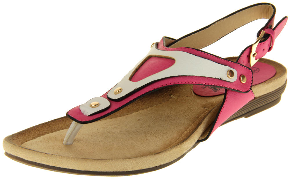 Womens Ladies Betsy Faux Leather Sandals
