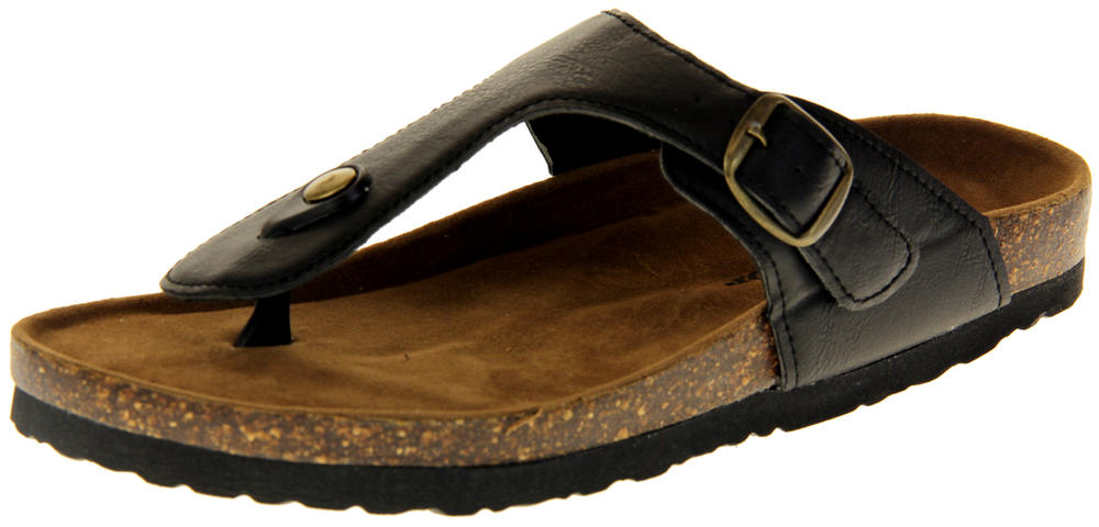Womens Ladies Dunlop Synthetic Leather Summer Sandals