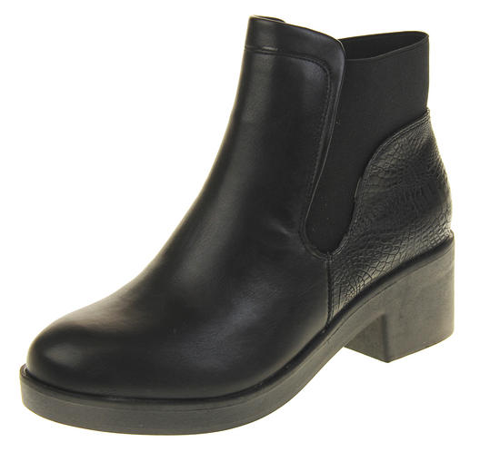 Womens Ladies Betsy Chelsea Style Ankle Boots Synthetic Leather