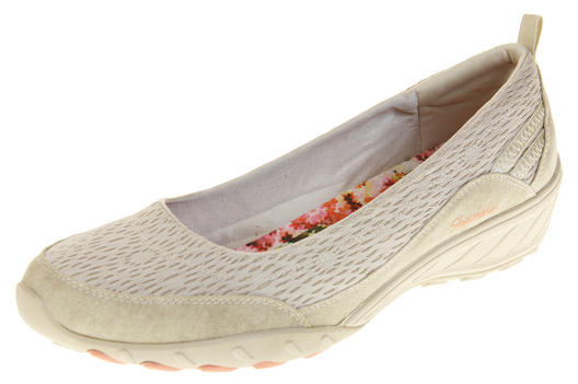 Womens Natural Beige Skechers Relaxed Fit Memory Foam Shoes Sz 2 5 5.5 6 6.5 7 8