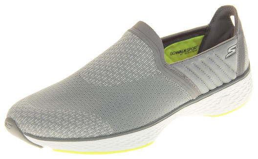 Womens Gorgeous Grey/Lime Skechers Go Walk Sport Trainers