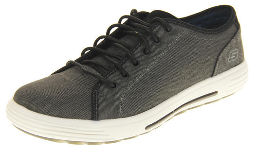 Mens Black Skechers Memory Foam Trainers Size 5.5 6 6.5 7.5 9 9.5 10 11 12 13