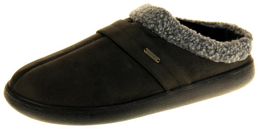 Mens Coolers Synthetic Fur Mule Indoor Comfy Slippers