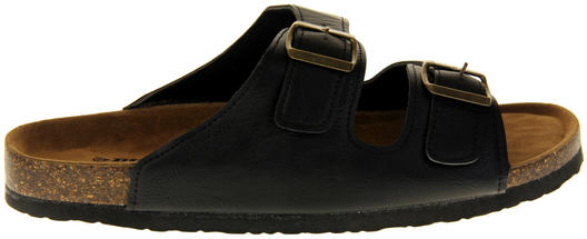 Mens Dunlop Faux Leather Summer Sandals