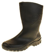 Mens Womens Calf Length Rubber Wellington Work Boots Thumbnail 1