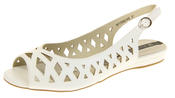 Womens Ladies Elisabeth Leather Designer Peep-Toe Fashion Sandals Thumbnail 1