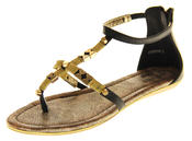 Womens Ladies Betsy Synthetic Leather Summer Sandals Thumbnail 1