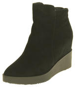 Womens Betsy Suede Leather Hidden Wedge Ankle Boots Thumbnail 1