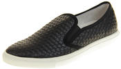 Womens Ladies Keddo Leather Casual Slip On Flat Weave Design Espadrille Pumps Thumbnail 1