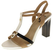 Womens Ladies Betsy High Heel Strappy Buckle Fastening Heeled Sandals Thumbnail 1
