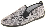 Womens Ladies Flossy Casual Canvas Espadrille Pumps Thumbnail 1