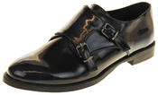 Womens Ladies Keddo Leather Double Buckle Formal Office Work Monk Shoes Thumbnail 1