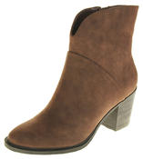 Womens Ladies Betsy Faux Leather Block Heel Inner Zip Ankle Boots Thumbnail 1
