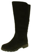 Womens 878138/02 Faux Leather Wool Lined Boots Thumbnail 1