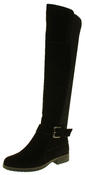 Womens Ladies Genuine Suede Tall Warm Above The Knee Boots With Zip Thumbnail 1