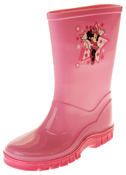 Girls Disney Minnie Mouse Waterproof Comfy Pink Wellies Wellington Boots Thumbnail 1