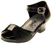 Girls RSB London Low Heel Wedding Shoe Diamente Feature Bridal Formal Court Shoes Thumbnail 1
