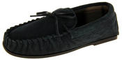 LodgeMok Mens Genuine Suede Moccasin Slippers Thumbnail 1