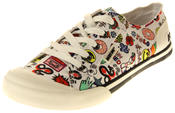 Womens Ladies Rocket Dog Emoji Design Trainers Pumps Thumbnail 1