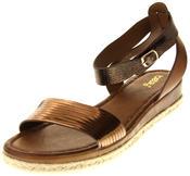 Womens Ladies Keddo Bronze Faux Leather Gladiator Sandals Thumbnail 1