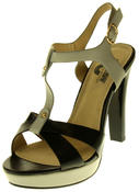 Womens Ladies Betsy Faux Leather High Heeled Sandals Thumbnail 1