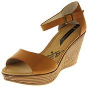 Womens Ladies Elisabeth Buckle Closure Wedged Summer Sandals Thumbnail 1