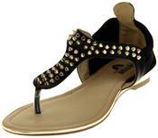 Womens Ladies Betsy Faux Leather Flip Flop Sandals Thumbnail 1