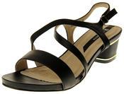 Womens Ladies Elisabeth Faux Leather Low Block Heel Sandals Thumbnail 1