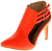 Womens Ladies Elisabeth Faux Leather Stilletto High Heels Thumbnail 1