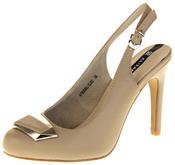 Womens Ladies Elisabeth Faux Leather High Heels Thumbnail 1
