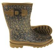 Womens Floral Calf Length Rubber Festival Wellington Boots Thumbnail 9