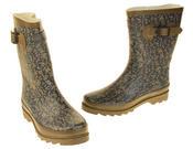 Womens Floral Calf Length Rubber Festival Wellington Boots Thumbnail 12