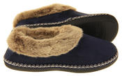 Womens Coolers Faux Suede Winter Warm Faux Fur Lined Slippers Thumbnail 7