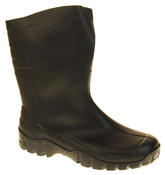 Mens Womens Calf Length Rubber Wellington Work Boots Thumbnail 2