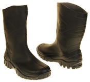 Mens Womens Calf Length Rubber Wellington Work Boots Thumbnail 6