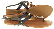 Womens Betsy Synthetic Leather Strappy Fashion Summer Sandals Thumbnail 10