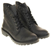 Womens Ladies Betsy Faux Leather Warm Lined Ankle Boots Thumbnail 10