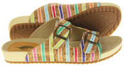 Womens Rocket Dog Holiday Mule Sandals with Double Buckle Straps Thumbnail 9