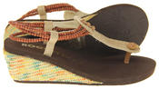 Womens Rocket Dog Synthetic Beaded Ankle Strap Wedge Sandals Thumbnail 4