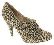 Womens Beige Rocket Dog High Heel Leopard Print Court Shoes Thumbnail 2