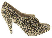 Womens Beige Rocket Dog High Heel Leopard Print Court Shoes Thumbnail 3