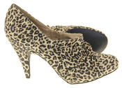 Womens Beige Rocket Dog High Heel Leopard Print Court Shoes Thumbnail 4