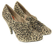 Womens Beige Rocket Dog High Heel Leopard Print Court Shoes Thumbnail 5