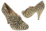 Womens Beige Rocket Dog High Heel Leopard Print Court Shoes Thumbnail 6
