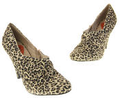 Womens Beige Rocket Dog High Heel Leopard Print Court Shoes Thumbnail 7