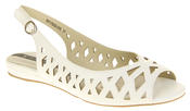 Womens Ladies Elisabeth Leather Designer Peep-Toe Fashion Sandals Thumbnail 2