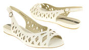 Womens Ladies Elisabeth Leather Designer Peep-Toe Fashion Sandals Thumbnail 4