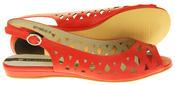 Womens Ladies Elisabeth Leather Designer Peep-Toe Fashion Sandals Thumbnail 6